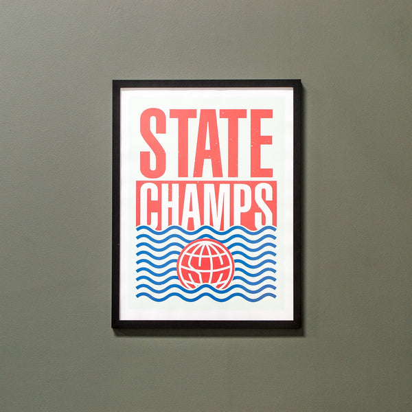 State Champs - 18x24 Screen Printed Poster - MerchLimited - 1