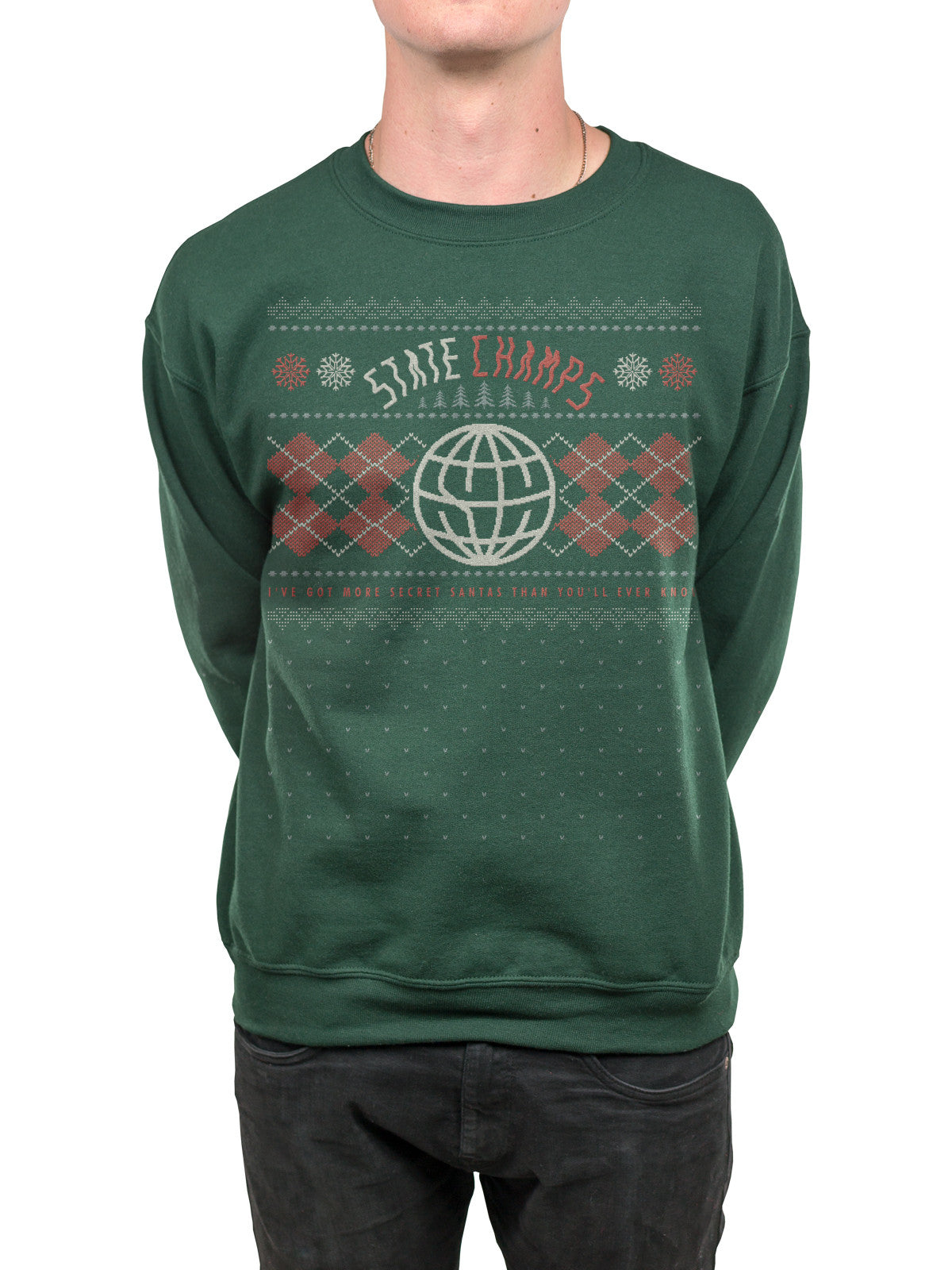 State Champs - Secret Santa Holiday Crewneck - MerchLimited - 1