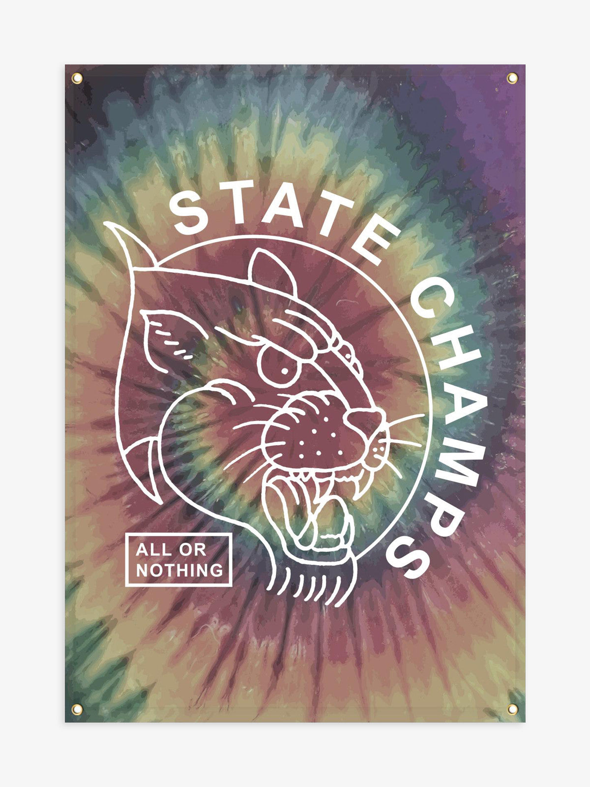 State Champs - All or Nothing Tie Dye Wall Flag - MerchLimited