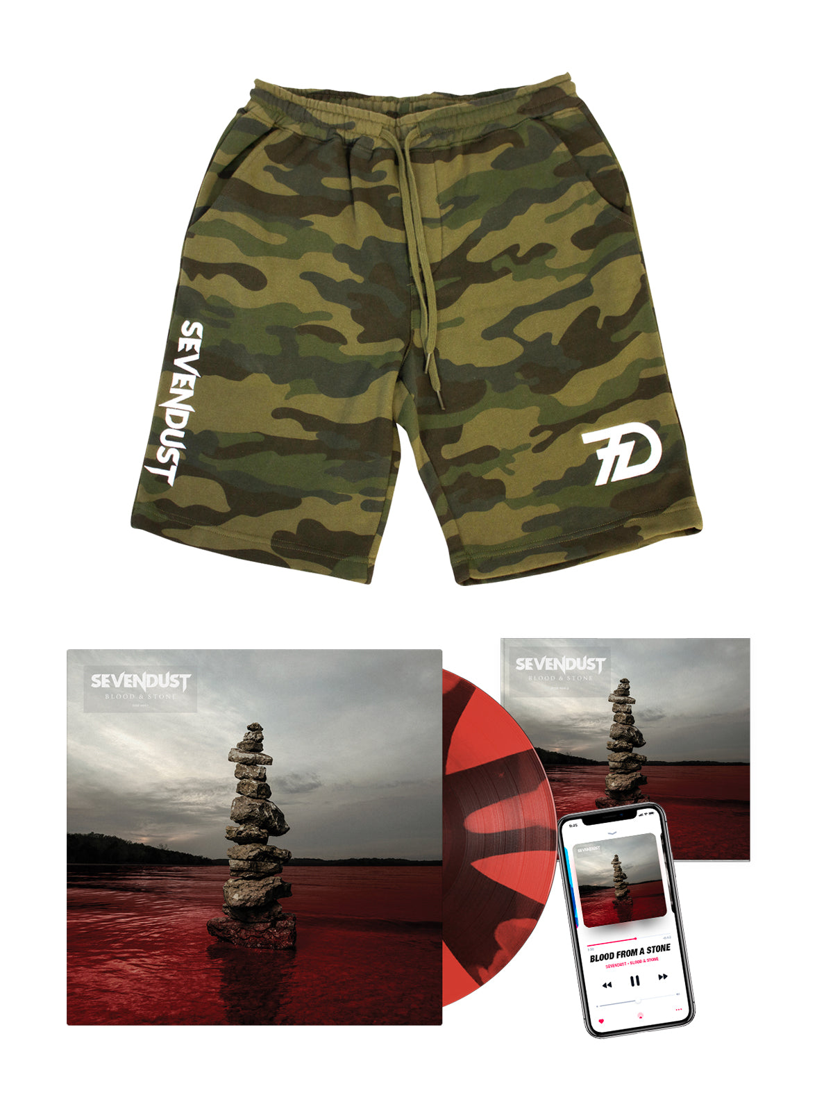 Sevendust - Blood & Stone Shorts Bundle