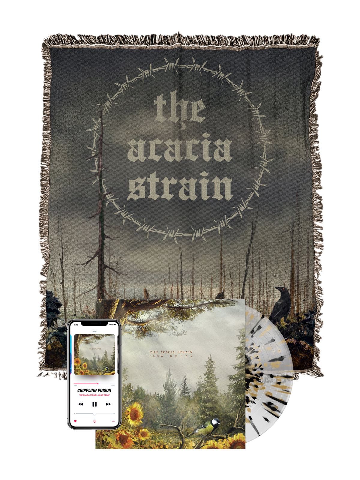 The Acacia Strain - Slow Decay Woven Blanket Bundle - SHIPS AUGUST 20