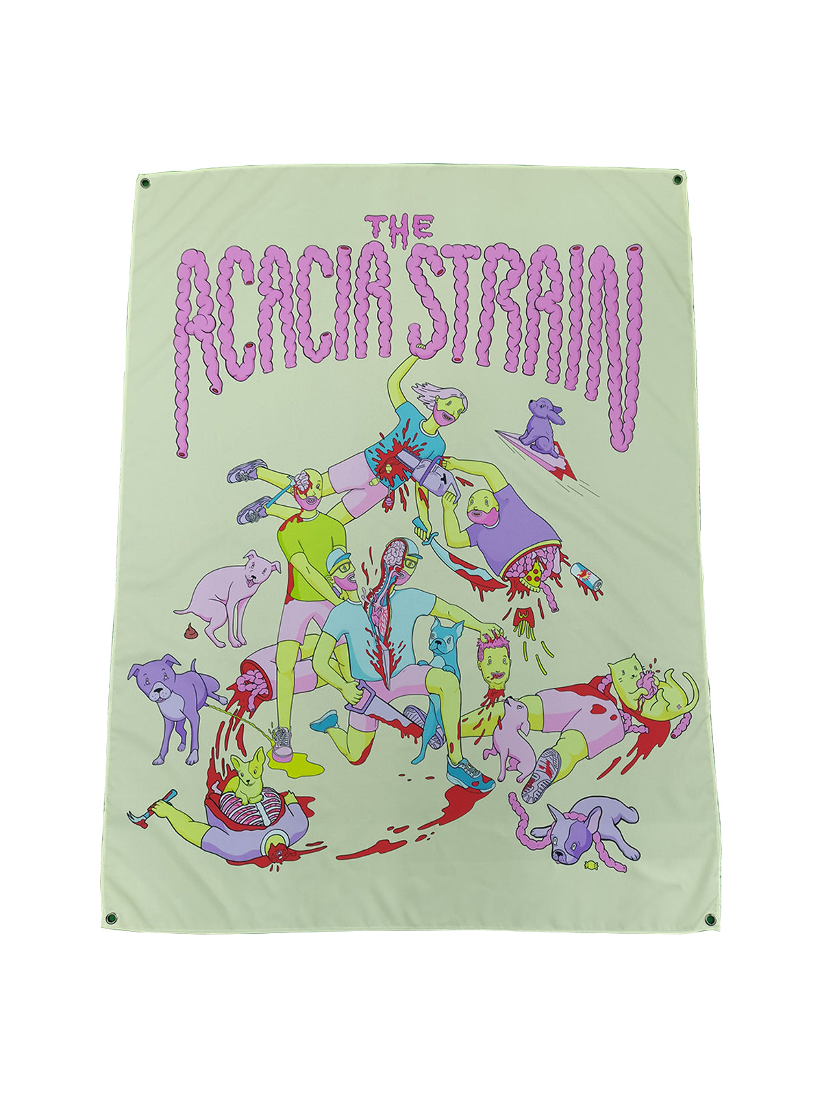 The Acacia Strain - When Animals Attack Wall Flag - Ships March 10