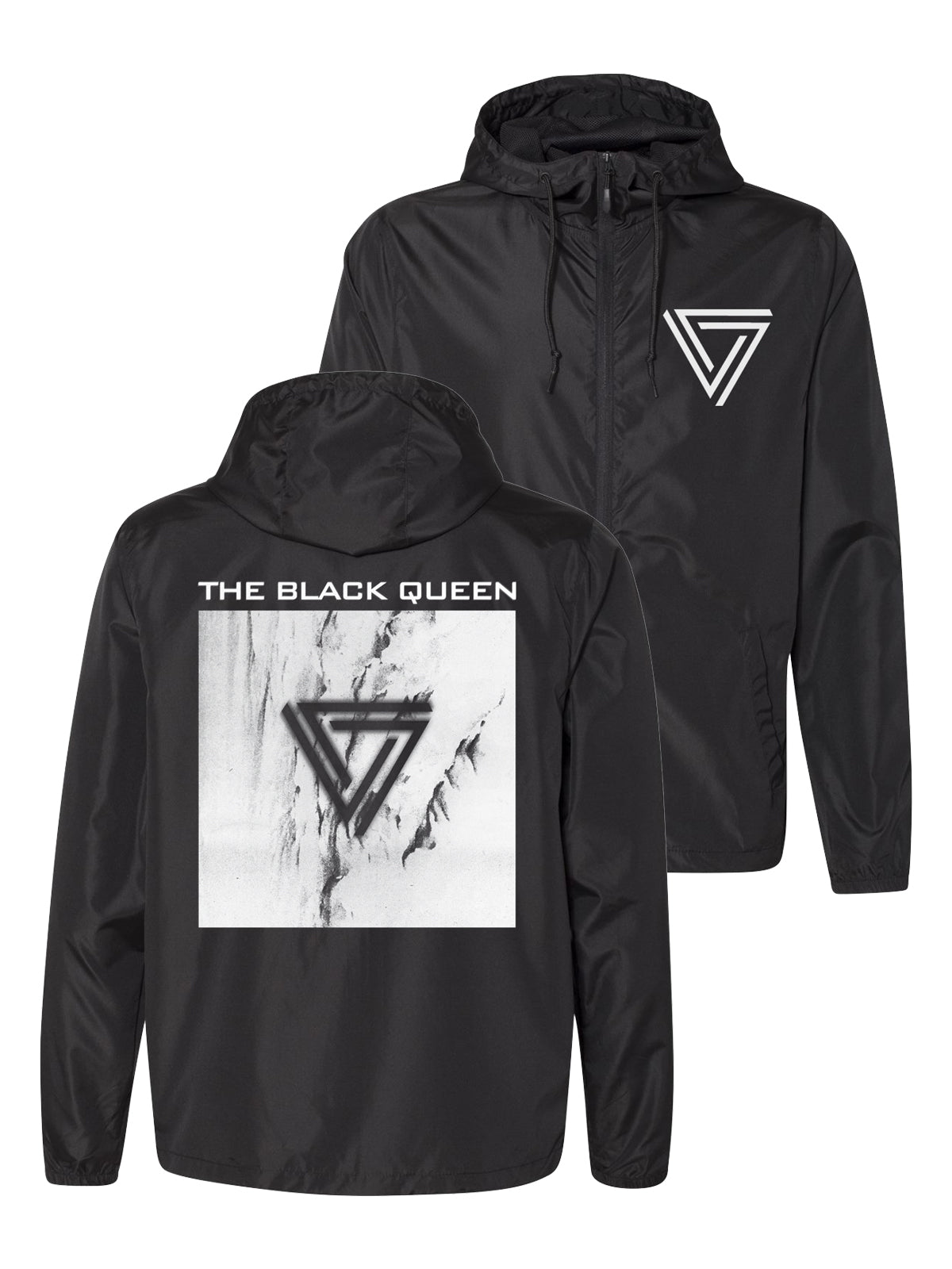 The Black Queen - Logo Zip-Up Hooded Windbreaker - Merch Limited