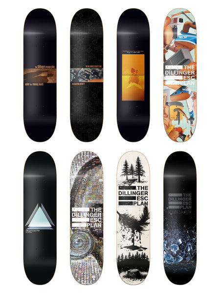 Dillinger Escape Plan - Album Art Skate Decks - Merch Limited