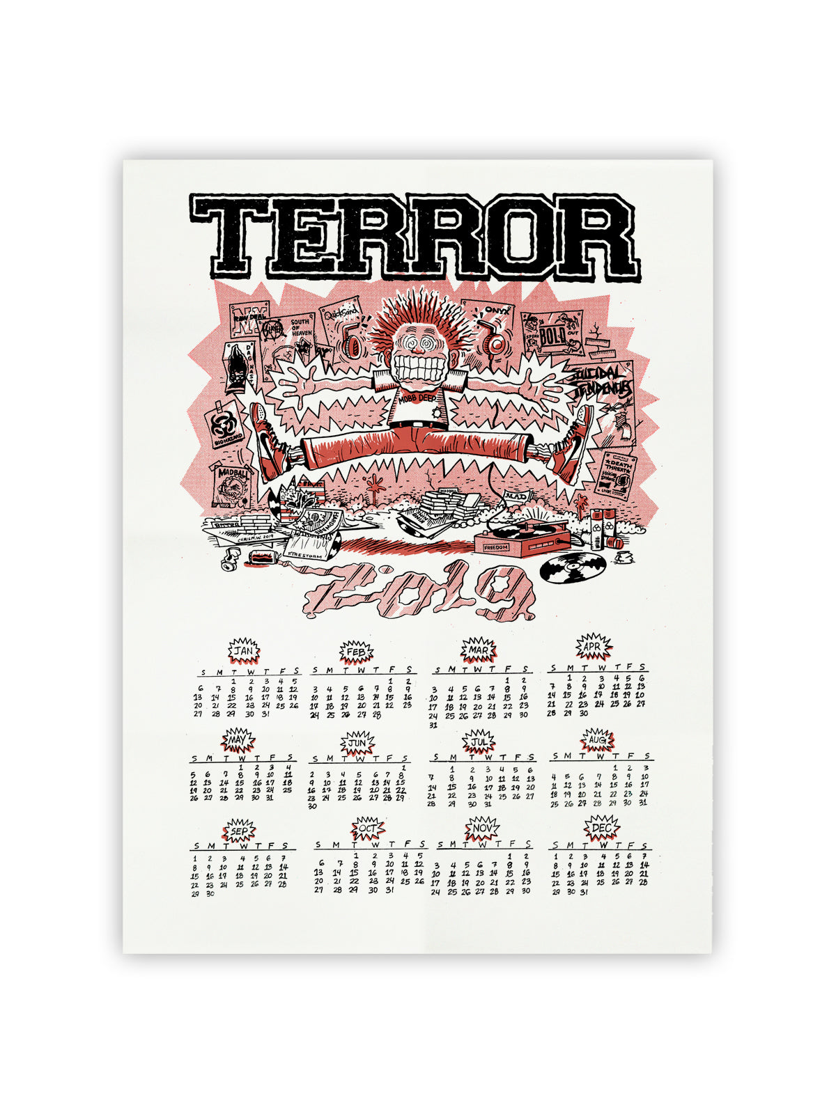 Terror - 2019 Screen Printed Calendar - Merch Limited