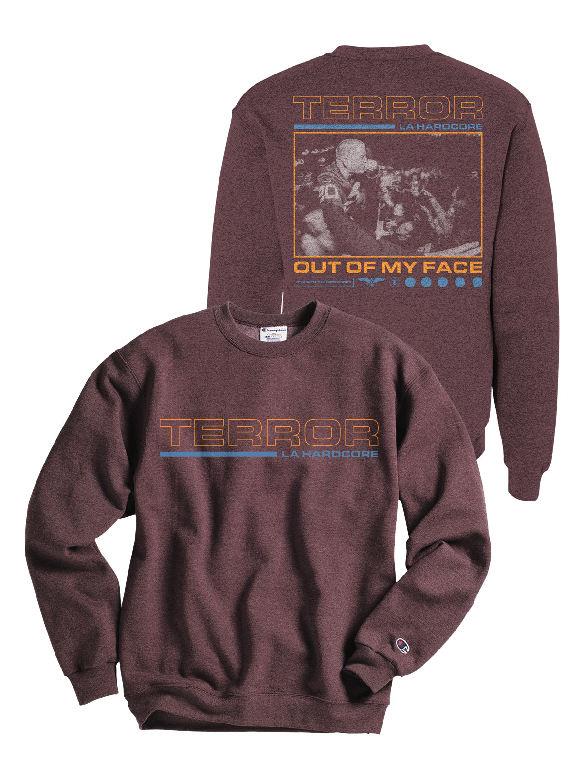 Terror - Out of My Face Champion Crewneck - Merch Limited