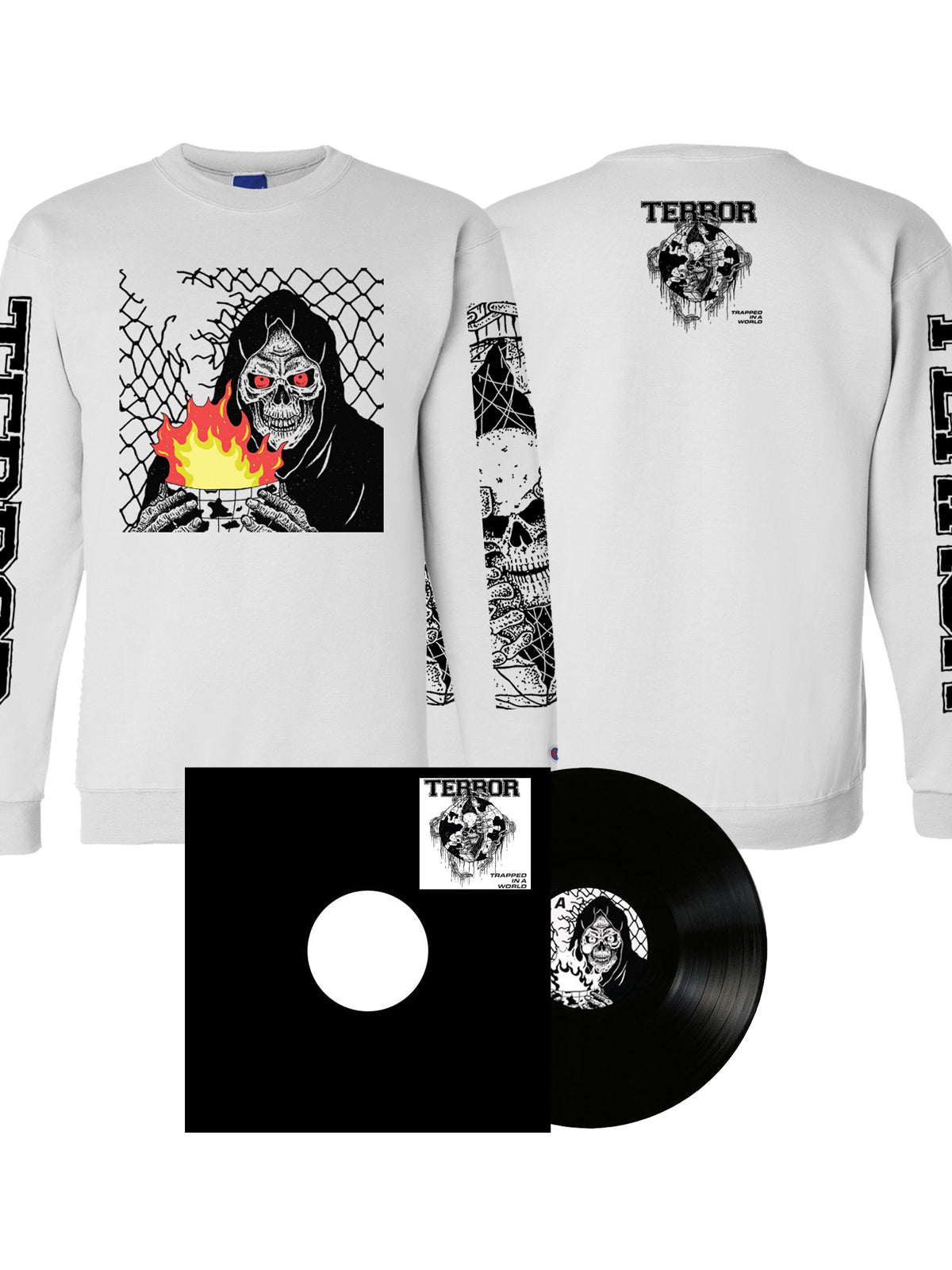 Terror - Trapped In A World LP + Crewneck Sweatshirt