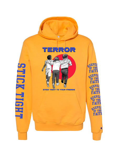 Terror - Stick Tight Champion Hoodie (Gold) - SHIPS MAY 1 - Merch Limited