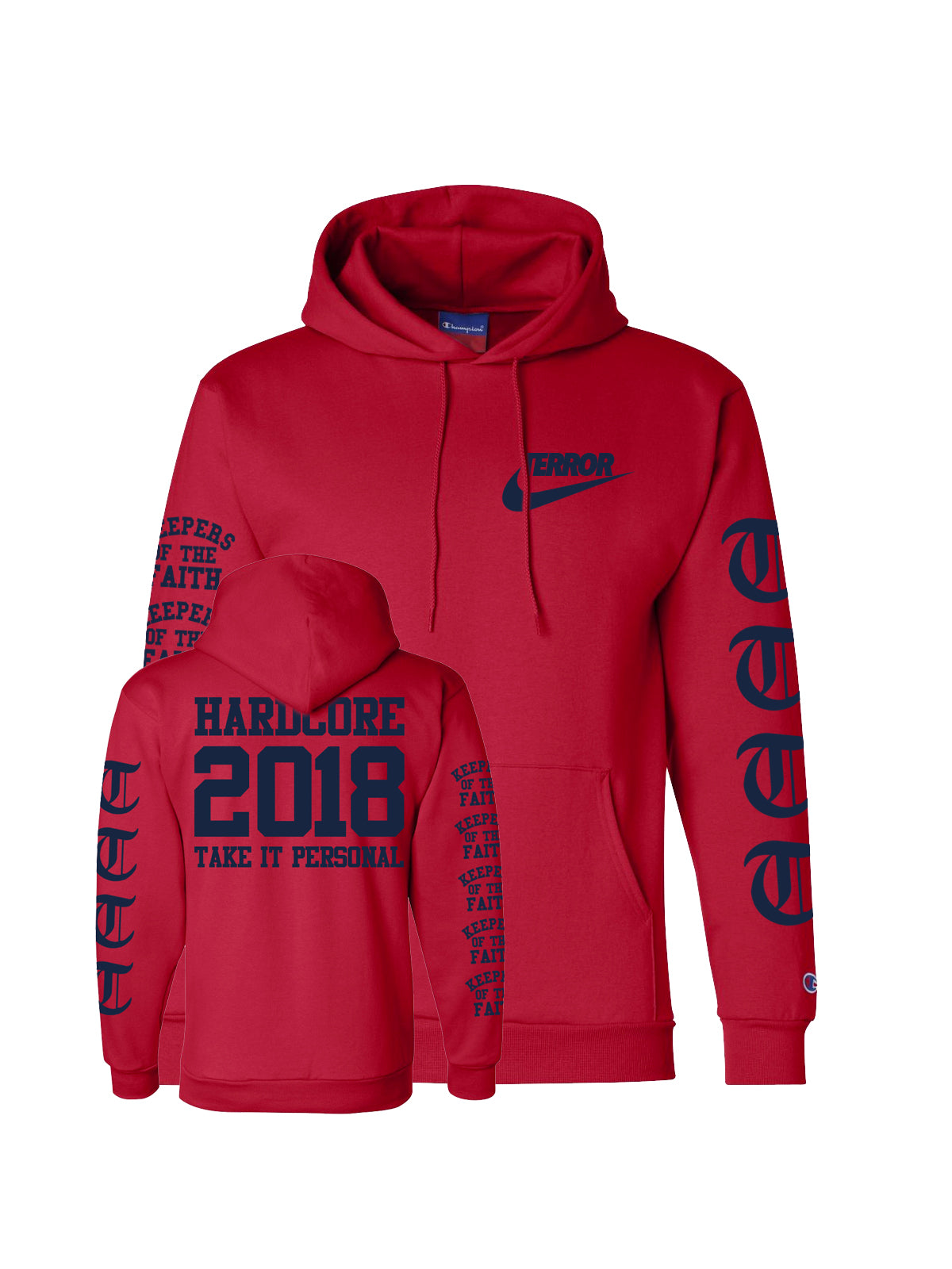 Terror - Take It Personal Champion Hoodie - Merch Limited