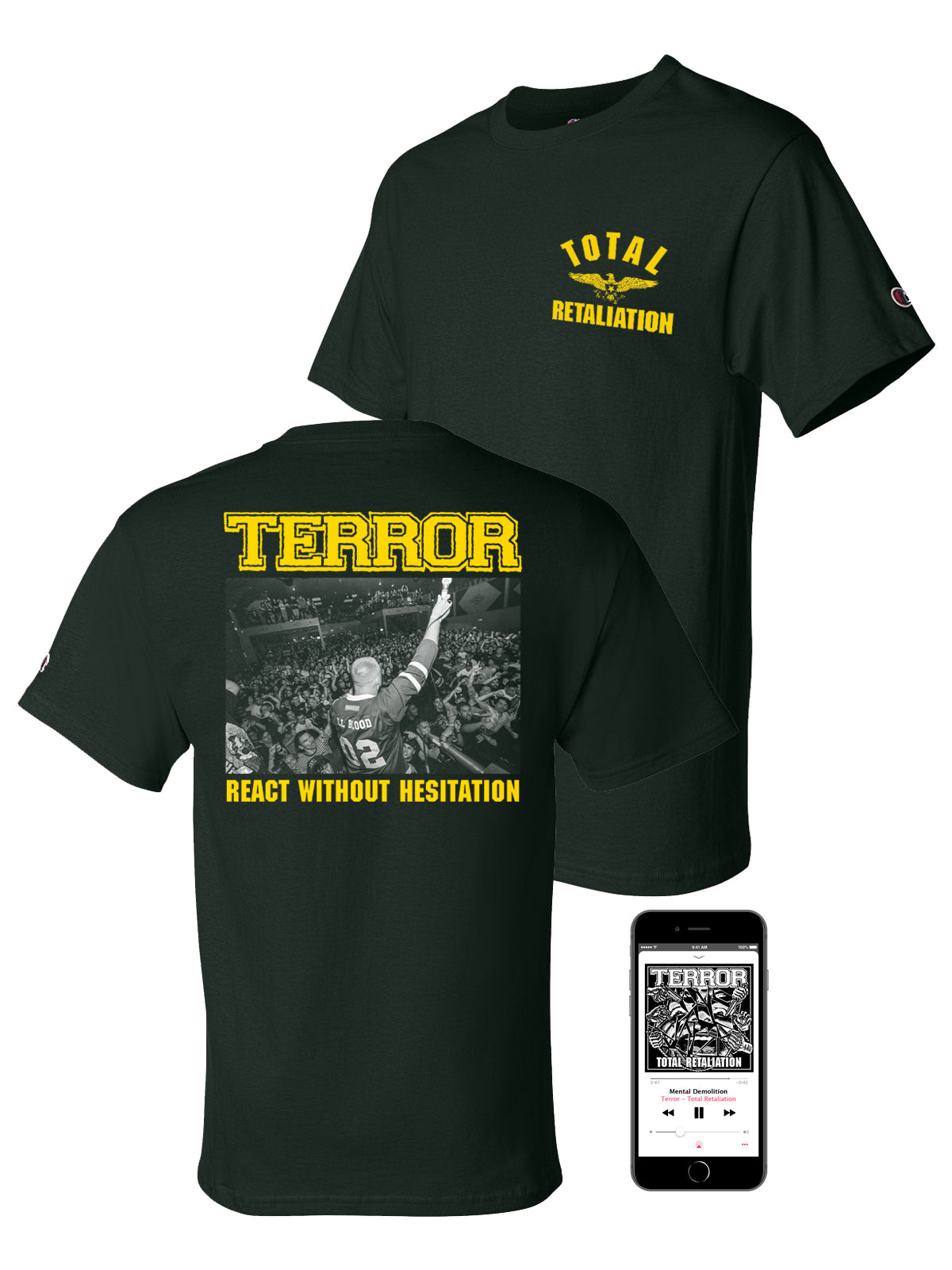 Terror - Total Retaliation Champion Shirt Bundle - Merch Limited