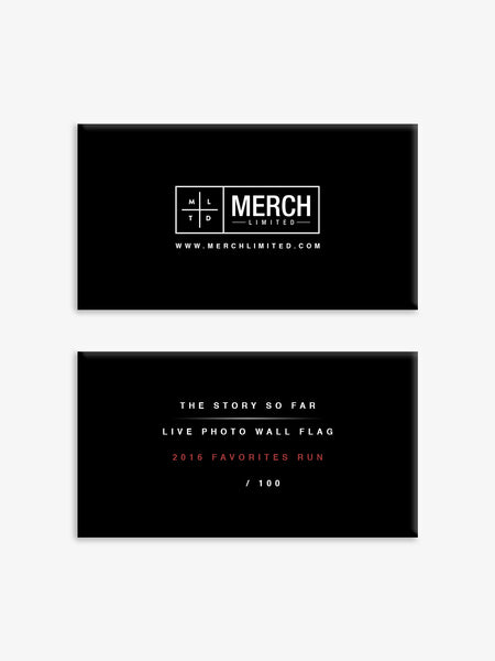 The Story so Far - Live Photo Wall Flag - 2016 Favorites Edition - MerchLimited - 2