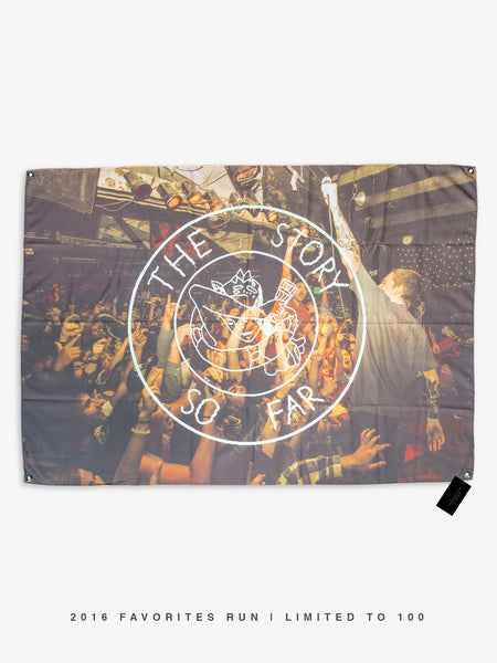 The Story so Far - Live Photo Wall Flag - 2016 Favorites Edition - MerchLimited - 1