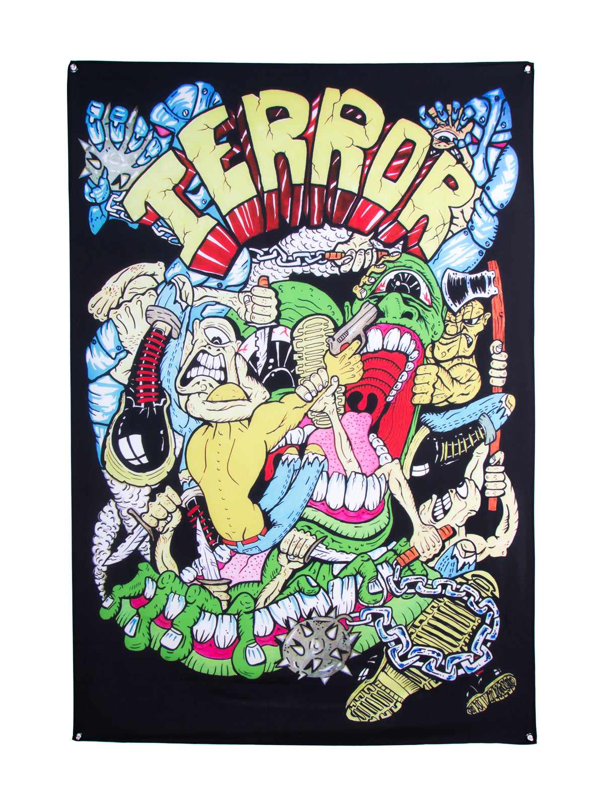 Terror - Colour Wall Flag - Merch Limited