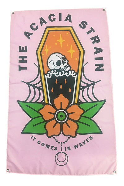 The Acacia Strain - It Comes In Waves Wall Flag - Merch Limited
