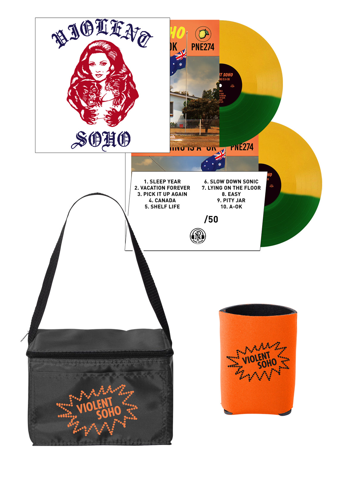 Violent Soho -  Cooler + Koozie Bundle - SHIPS APRIL 17 - Merch Limited