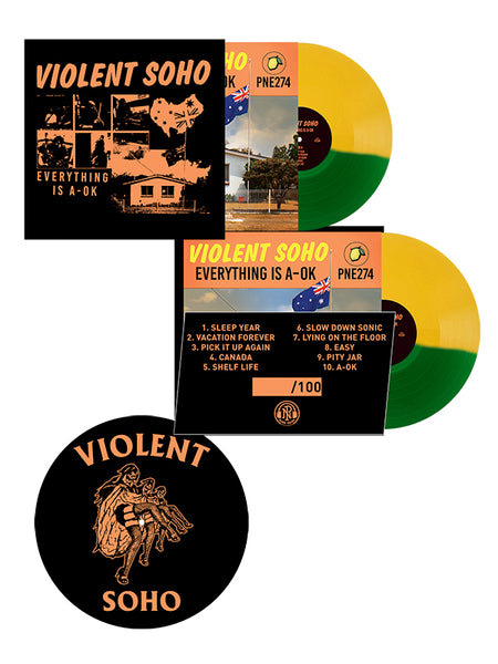 Violent Soho - Everything Is A-OK LP + Slipmat Bundle - SHIPS APRIL 24 - Merch Limited