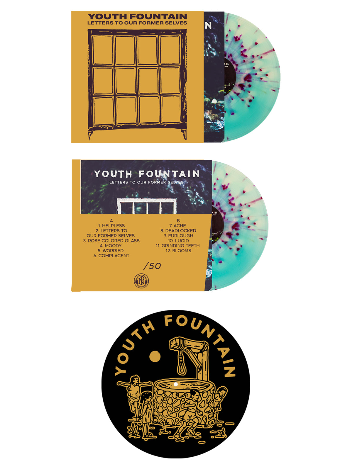 Youth Fountain - Letters to Our Former Selves Vinyl + Slipmat Bundle