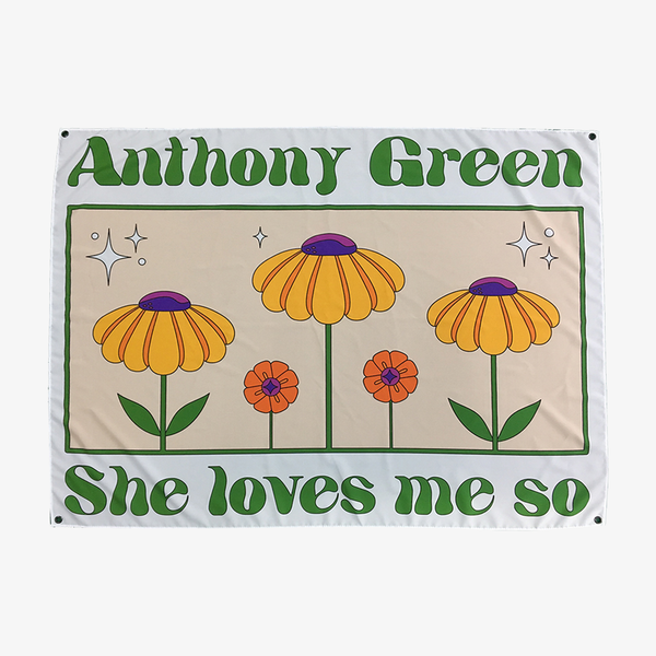 Anthony Green - She Loves Me So Wall Flag - Merch Limited