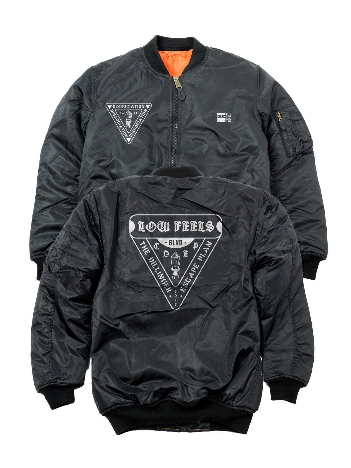 The Dillinger Escape Plan - Low Feels Bomber Jacket - Merch Limited