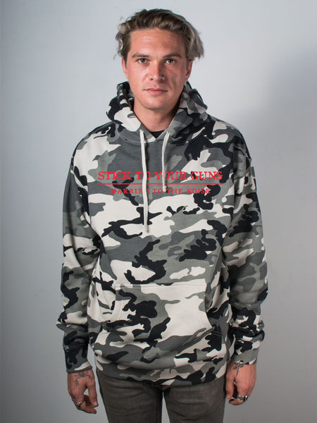 Stick To Your Guns - Snow Camo Hoodie + Album Download - Merch Limited