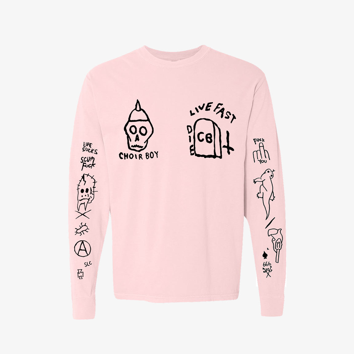 Choir Boy - GG Pigment Dyed Longsleeve - Merch Limited