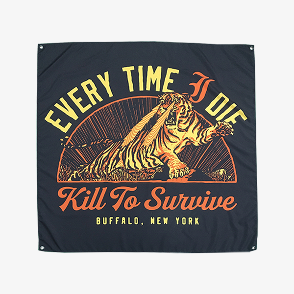Every Time I Die - Kill to Survive Wall Flag - Merch Limited