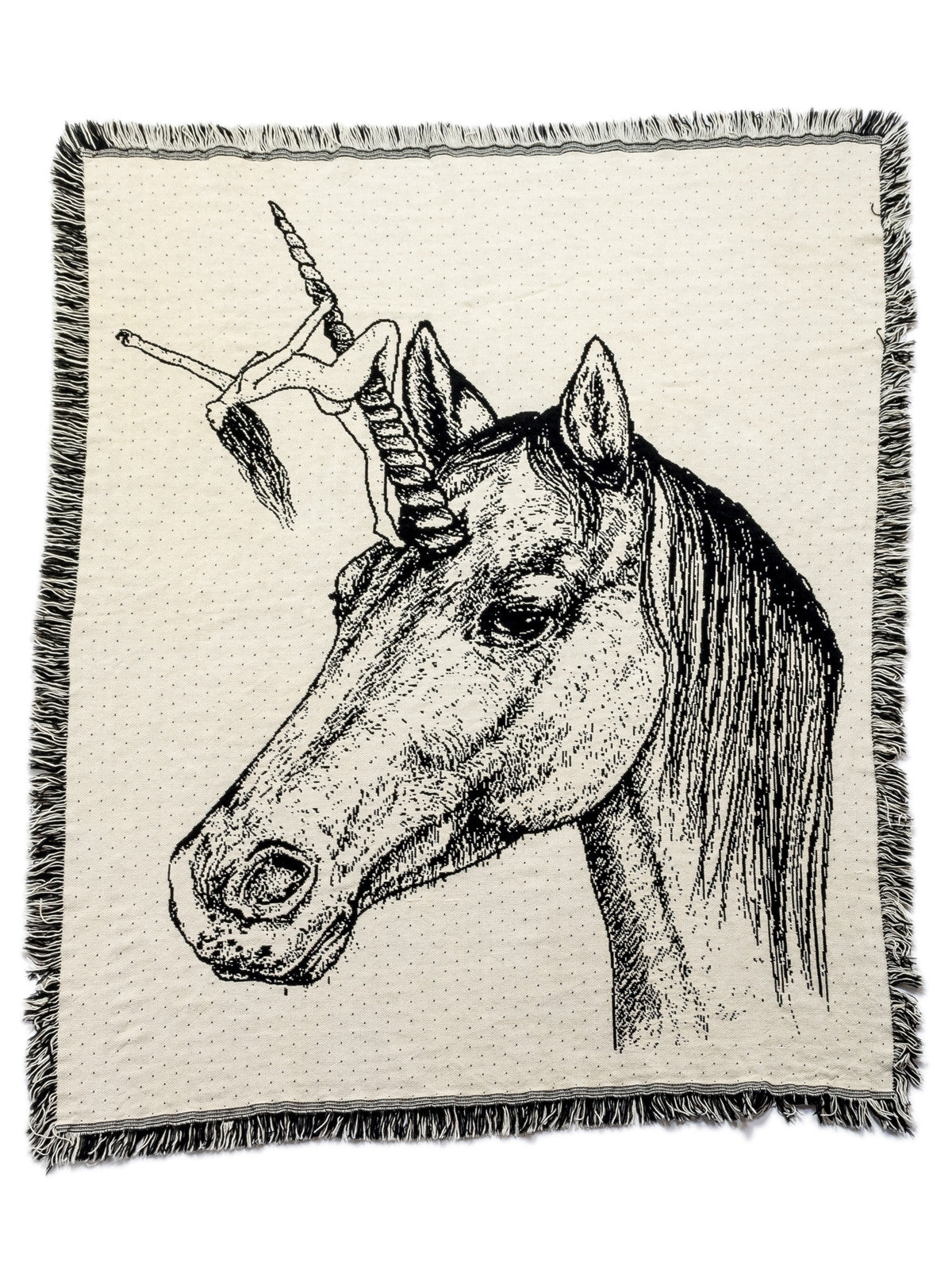 Melodie Perrault - Unicorn Throw Blanket Sample - Merch Limited