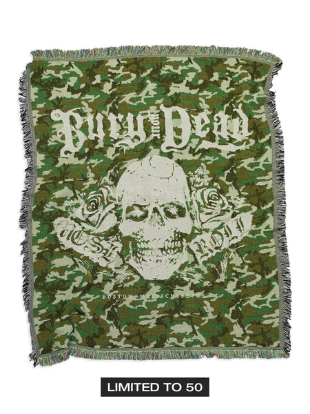 Bury Your Dead - 50x60 Camo Woven Blanket - Merch Limited