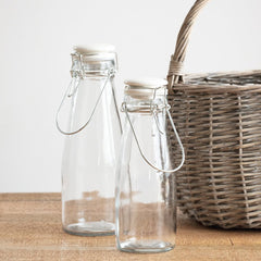 Refillable Glass Bottle with Ceramic Lid