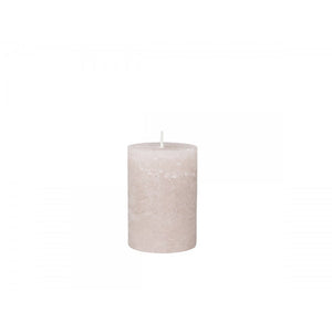 Rustic Pillar Candle - Dusty Rose