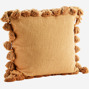 Large Tassel Cushion Cover (no insert) - Rust