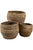 Set of 3 round stacking storage baskets