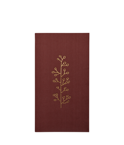 Christmas Paper Napkins - Rust Red
