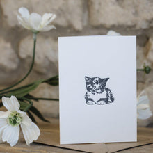 Load image into Gallery viewer, MINI LETTERPRESS KITTEN CARD