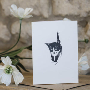 MINI LETTERPRESS KITTEN CARD