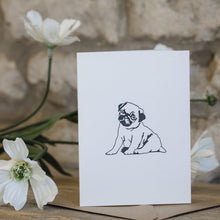 Load image into Gallery viewer, MINI LETTERPRESS PUPPY CARD