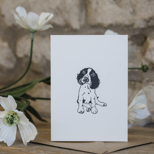 MINI LETTERPRESS PUPPY CARD