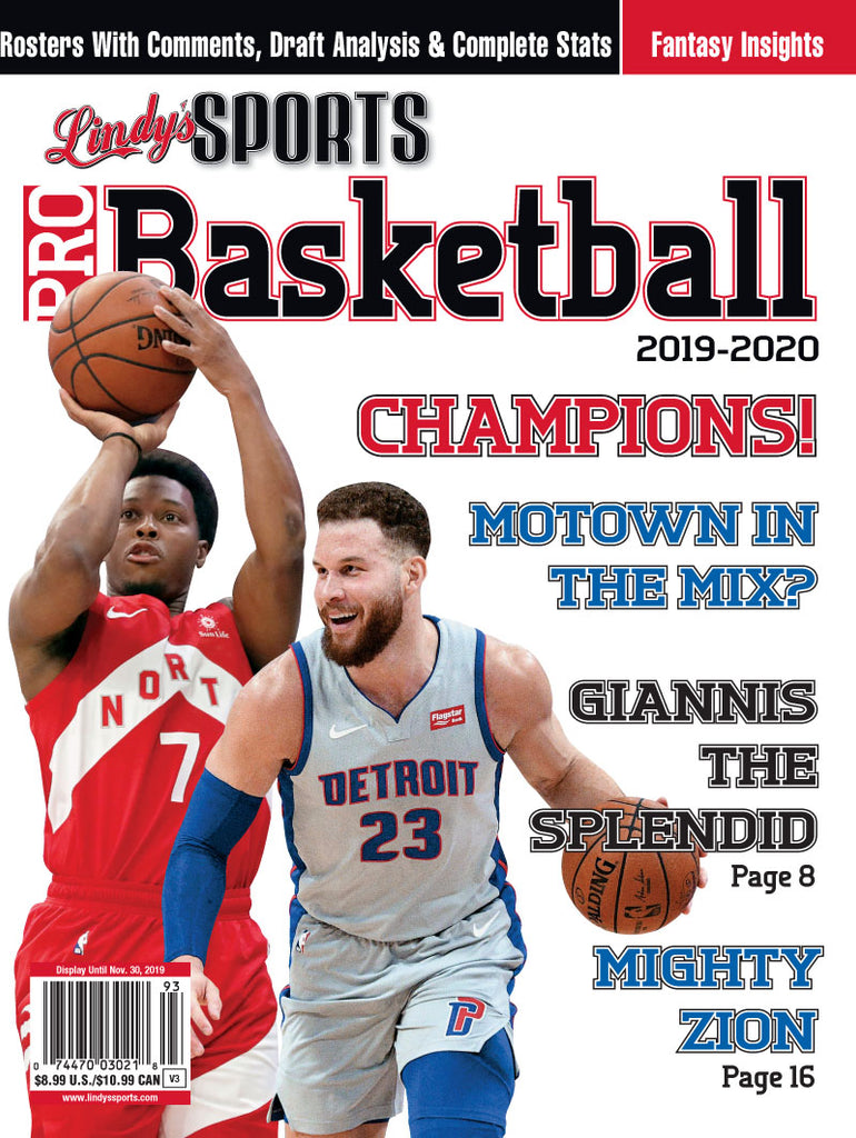Pro Basketball/Toronto/Detroit Cover