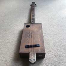"Load image into Gallery viewer, 3 String Cigar Box Guitar - ""Partagas"" - pixomanic"