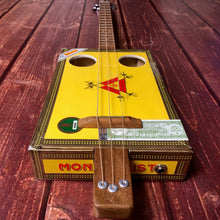 "Load image into Gallery viewer, 3 String Cigar Box Guitar - ""Montecristo"" - open g tuning"