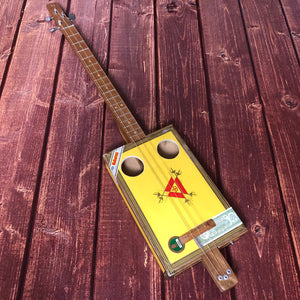 "3 String Cigar Box Guitar - ""Montecristo"" - open g tuning"