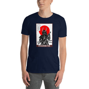 3 String Samurai - Short-Sleeve Unisex T-Shirt - pixomanic