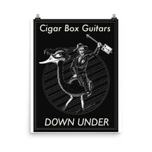 Load image into Gallery viewer, Cigar Box Guitar Down under Poster - pixomanic