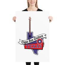 Load image into Gallery viewer, Cigar Box Guitars Texas - Poster - pixomanic
