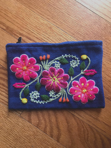Medium Flowers Colorful Organization Bag