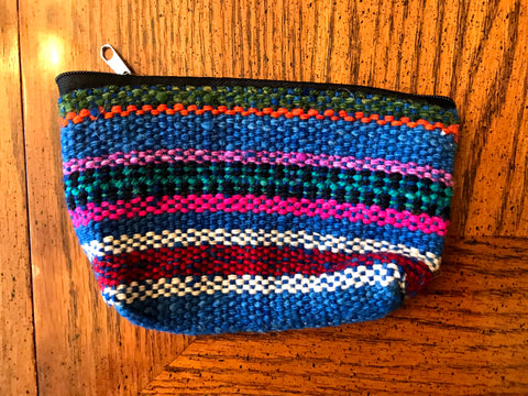 Woven Stripes Medium Colorful Organization Bag