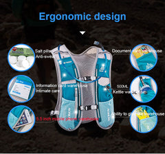 AONIJIE 5L Lightweight Running Backpack Outdoor Sports Trail Racing Marathon Hiking Fitness Bag Hydration Vest Pack