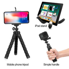 Flexible Sponge Octopus Tripod Holder For iPhone Huawei With Bluetooth Remote Shutter Tripod Phone Holder clip stand for Camera