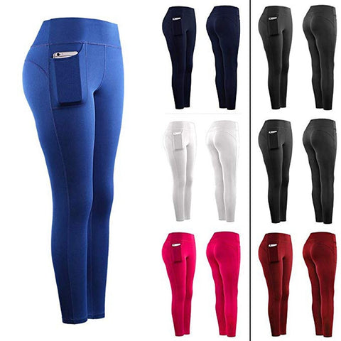 Women Stretch Leggings with Pockets and High Waist