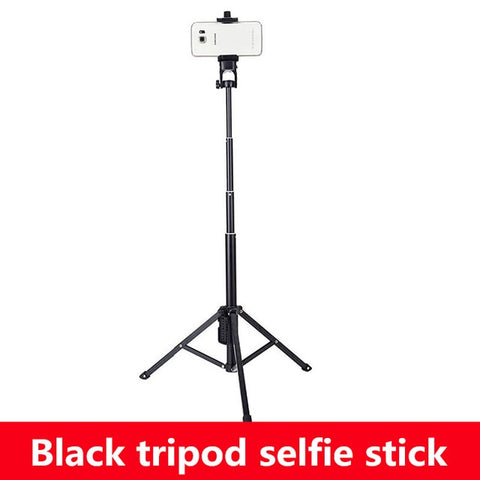 All in 1 Compact Aluminium Travel Tripod Monopod Bluetooth Remote Shutter Control Selfie Stick Tripod for iPhone Mobile Camera
